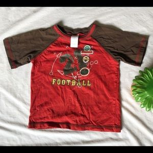Boys T-shirt with football pattern!